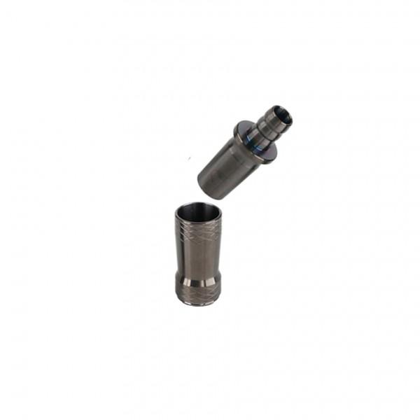 CAMO Crystal Adapter V2A Edelstahl Universal Schwarz