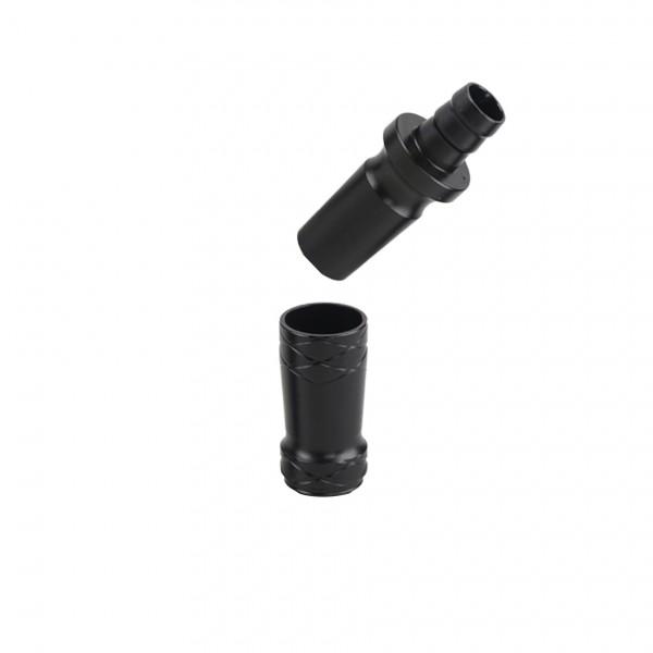 CAMO PRO ALU Adapter 18/8 Schliff Universal Schwarz